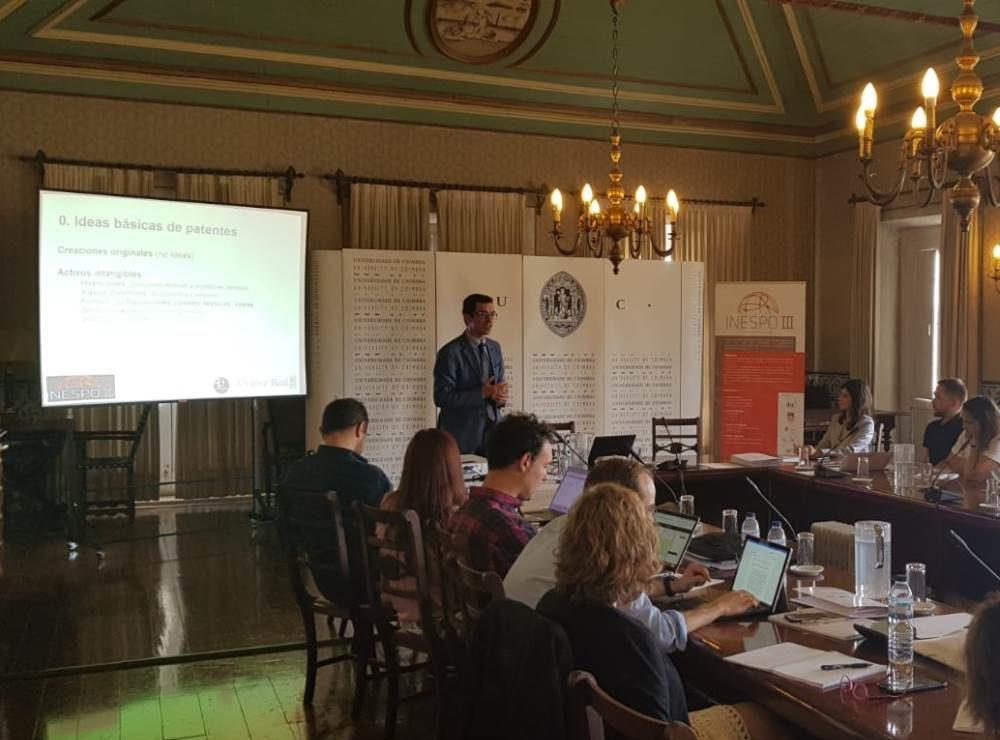 Impartimos formación sobre contratos de licencia en la Universidad de Coímbra, en el programa Inespo III