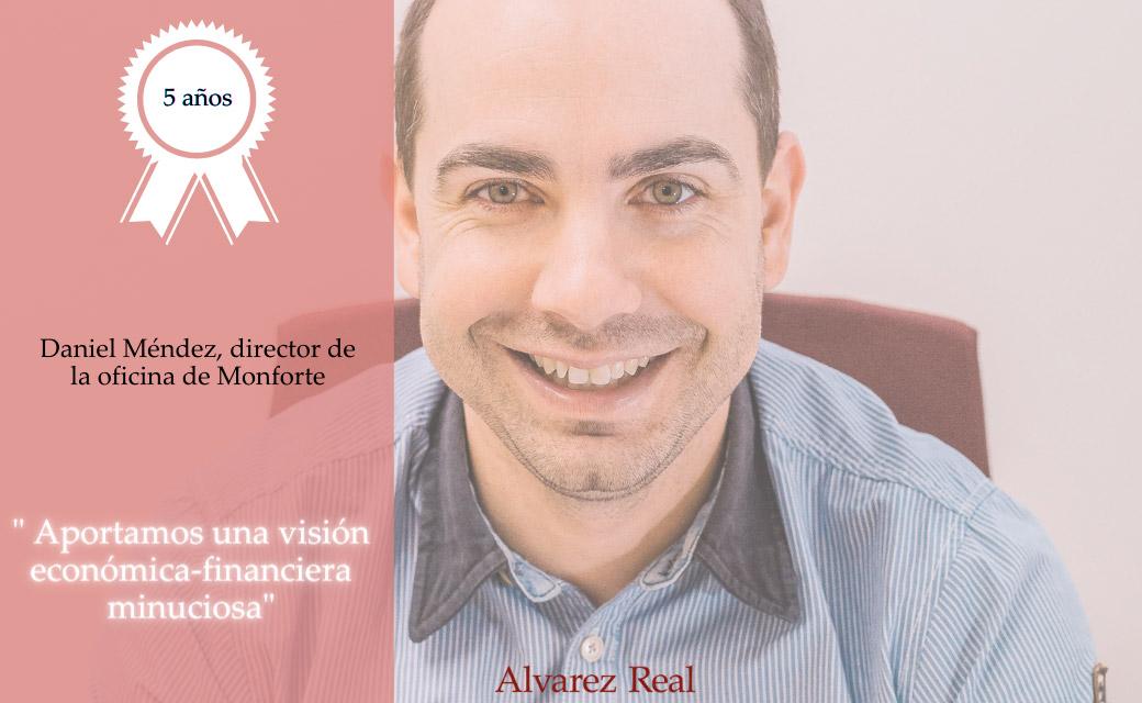 Daniel Méndez, director de oficina Álvarez Real en Monforte de Lemos
