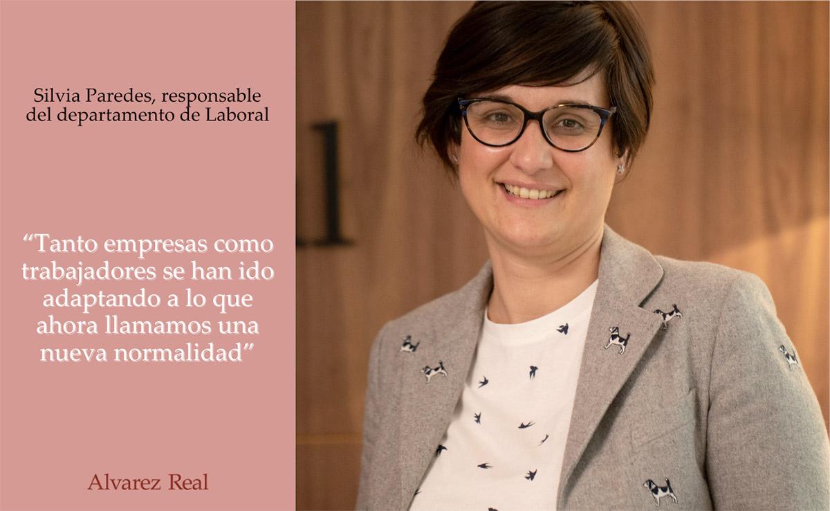 Entrevista a Silvia Paredes, responsable del departamento de Laboral de Álvarez Real